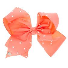 hair bow jojo siwa large rhinestone coral signature hair bow s