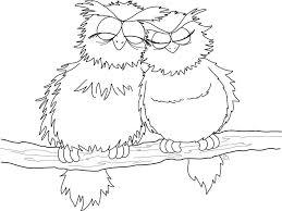 couple owl coloring pages coloringsuite com