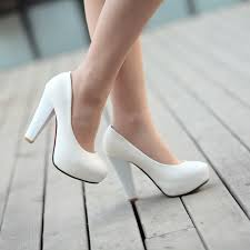 wedding shoes thick heel white chunky heel women s wedding shoes 10674089