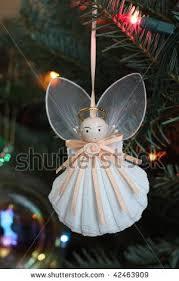 homemade angel ornaments stock photo homemade christmas tree