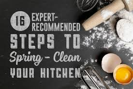 16 expert recommended steps to spring clean your kitchen