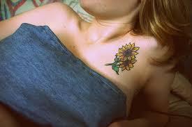 sunflower on front shoulder chipless fashion