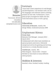 Sample Hobbies For Resume by Sample Resumes U0026 Example Resumes With Proper Formatting Resume Com