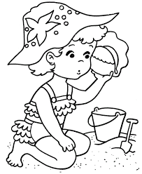 summer coloring beach pages kidscoloringpage