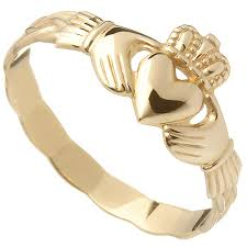 braided band claddagh ring 10k yellow gold celtic braid band at