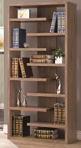 rustic wood cool retail bookcase floating shelves store unique