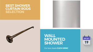 wall mounted shower curtain rods best shower curtain rods