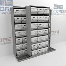Narrow Storage Shelves by Rolling Shelves For Storing Record Boxes File Box Storage
