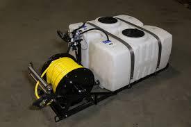 dual 50 gallon pest control skid sprayer steel frame