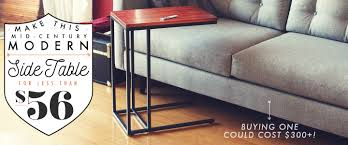 make this mid century modern side table for less than 56 primer
