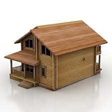 3d wood buildings and houses 3d models house wood n241110 3d model