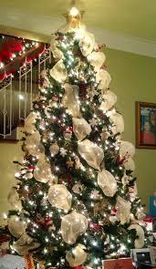 mesh ribbon ideas beauteous christmas tree decorating ideas with mesh ribbon