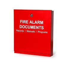 fire alarm document cabinet space age electronics inc fad fire alarm documents box