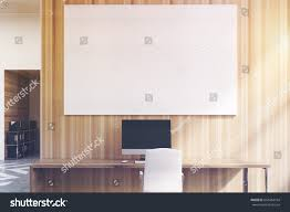 office cubicles office white wooden walls stock illustration