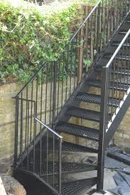 stairs marvellous metal handrails for outdoor steps astounding