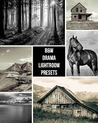 black and white landscape lightroom presets by presetsgalore on