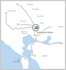 Map From San Francisco To Napa Valley by Bottlerock Napa Valley Accommodations Bottlerock Napa Valley