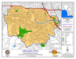 Los Angeles District Map by Studio City Neighborhood Council Map Los Angeles Real Estate
