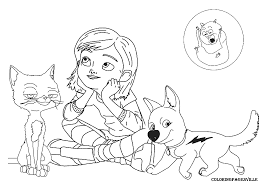 bolt coloring pages ziho coloring