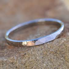 wedding bands inverness white gold ring 14k palladium white gold hammered 2mm wide ring