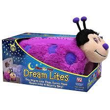 light up ladybug pillow pet as seen on tv pillow pet dream lites pink lady bug walmart com