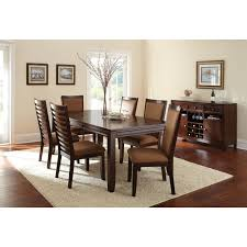 6 Chair Dining Room Table by Steve Silver 7 Piece Marseille Marble Top Dining Table Set Dark