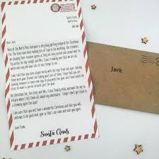 letter from santa personalised christmas eve box nice list