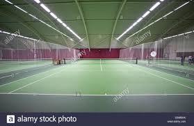 indoor tennis court in london uk stock photo royalty free image