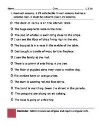 best ideas of collective nouns sentences worksheets for your cover