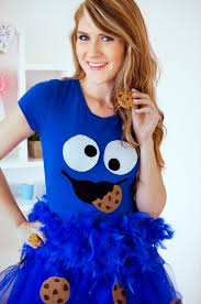 the joy of fashion halloween cute homemade cookie monster costume