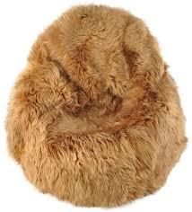 fluffy sheepskin beanbag lambskin pouf kuhfelle online