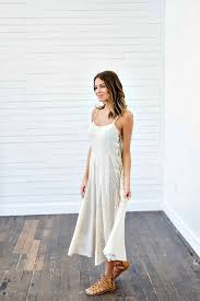 tribe vibes cream lace tank dress bella ella boutique online store
