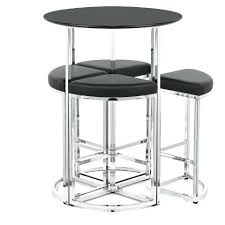 White Bar Table Bar Stool Table And Chairs Flat Icon On White Background Inside