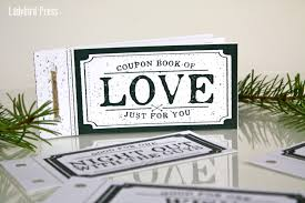 love coupon book stocking stuffer christmas gift for