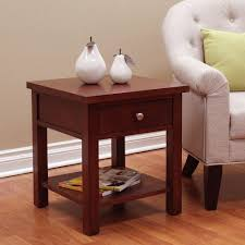 donnieann oakdale cherry end table 602483 the home depot
