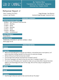 rehearsal report template stage manager rehearsal report search stage management