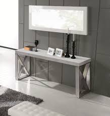 brushed stainless steel console table carrera console table in 3d marble finish with brushed stainless