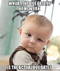 Due Date Meme - whoa the due date of homework is the actual due date