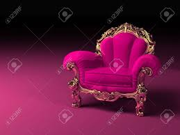 Pink Armchair Luxury Pink Armchair With Golden Frame Stock Photo Picture And