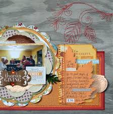 thanksgiving scrapbook layouts inspired by thanksgiving