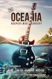 oceania music concert flyer psd template on behance carteles