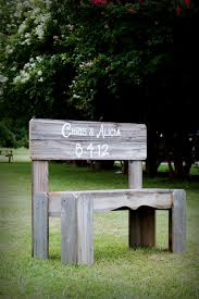 Personalized Park Bench Guest Book Bench Wedding Sign Gift His And Her Name