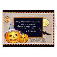 vintage halloween greeting cards zazzle