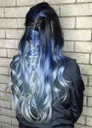 hair styles foil colours 50 magically blue denim hair colors you will love fashionisers