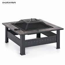 ikayaa high quality metal garden backyard fire pit patio square