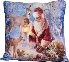 H Sta Schlafzimmer Beleuchtung Kissen 45x45cm Led Beleuchtung Weihnachten Dekokissen Wintermotive