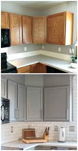 Painted And Glazed Kitchen Cabinets by Best 25 Refinished Kitchen Cabinets Ideas On Pinterest Painting