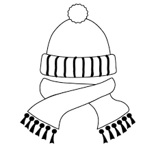 winter clothes coloring pages getcoloringpages within winter hat