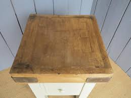 Antique Butcher Block Kitchen Island Furniture Exquisite Rectangular Antique Butchers Block As