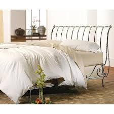 Iron Sleigh Bed Paris Sleigh Bed Vintage White Open Parisovw From Charles P Rogers